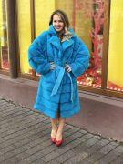 """Пальто из меха норки модель """"Кимоно"""""""