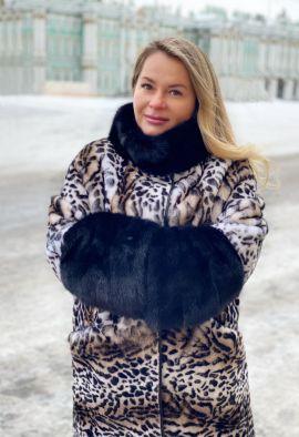Шуба из овчины (леопард)
