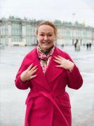 Пальто из кашемира красного цвета