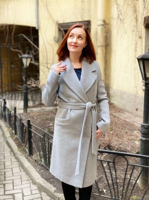 Пальто с английским воротом